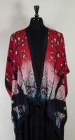 Cocoon House Open Silk Kimono - Cherry Blossom