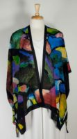 Cocoon House Open Silk Kimono - Evening Jewels