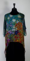 "Cocoon House Sheer Silk Topper - ""Garden of Sunflowers"" by Klimt"