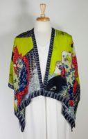 Cocoon House Open Silk Kimono (shorter) - Koi