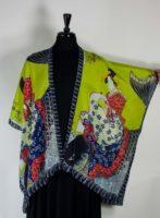 Cocoon House - Long Silk Kimono Open Jacket - Koi