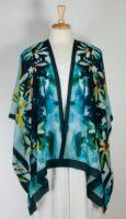 Cocoon House Open Silk Kimono - Raining Daisies