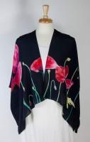 """Cocoon House Open Silk Kimono (shorter) - """"Poppy"""""""
