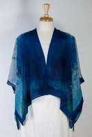 """Cocoon House Open Silk Kimono (shorter) - """"Blue"""""""