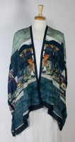 "Cocoon House Open Silk Kimono - ""The Village"""