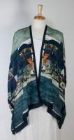 "Cocoon House Open Silk Kimono - ""The Village"""