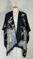 Cocoon House Open Silk Kimono - Wave Wings