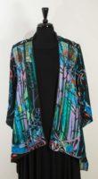 Citron - Open Front Silk Jacket (Turquoise)