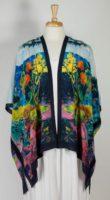 Cocoon House Open Silk Kimono - Fine Day