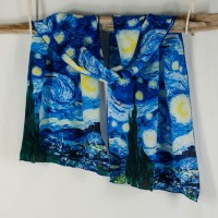 """Cocoon House Silk Scarf - """"Starry Night"""""""