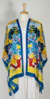 Cocoon House Open Silk Kimono - Sunny Side