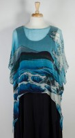 Cocoon House Sheer Silk Topper - Ocean