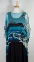 Cocoon House Sheer Silk Topper - Ocean