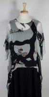 Cocoon House Sheer Silk Topper - White with Song Birds, Branches