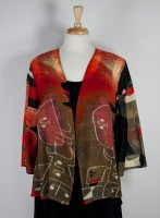 Cocoon House Light Wool Open Jacket - Red