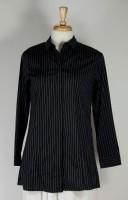 Comfy USA Montreal Shirt - Black Pinstripe