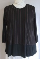 Comfy USA Stripe Top - pleated back (2 Colors)