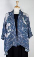 Dressori - Blue Silk Kimono with Cranes
