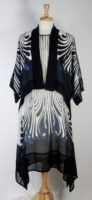 Dressori - Silk Georgette with White Maxi Dress
