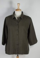 Flax, Wing Tip Blouse (5 Solid Colors)
