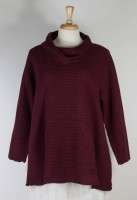 Focus Feather Waffle Cowl Neck Tunic (7 Colors)