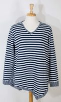Fresh Produce - Cotton Striped Jersey Knit V-neck