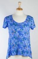 Fresh Produce Paradise Luna Top - Periwinkle (Floral Print)