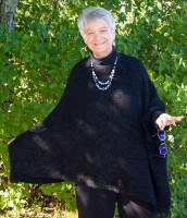 Iridium Alpaca Sweater Cape (3 Colors)