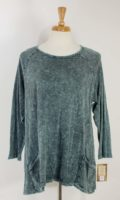 Jess and Jane - Mineral Wash Tunic Top (2 Colors)