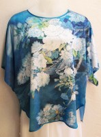 KeKe Silk Blouse - Blue