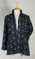 Komil - Navy & Grey Print Open Jacket