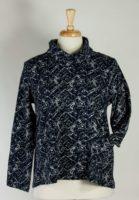 Komil - Navy & Grey Shorter Cowl Neck Top