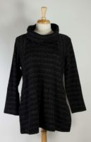 Komil Tunic - Black Wave Weave