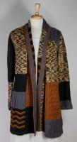 La Blend Long Patchwork Open Sweater (2 Colors)