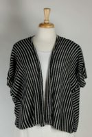 LA Blend - Black & White Stripe Open Sweater Jacket