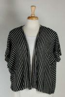 LA Blend - Black & White Stripe Open Sweater Jacket