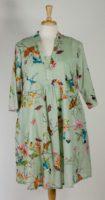 La Cera Hummingbird Print Dress (2 Colors)