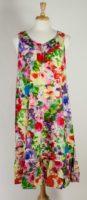 La Cera Multi-Floral Sleeveless Nightgown