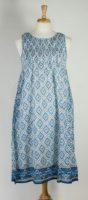 "La Cera - Sleeveless Smocked Bodice Cotton ""Dress"""
