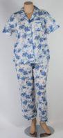 La Cera - Short Sleeved Collared Pajama Set