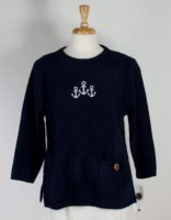 Lulu-B Poly-Fleece Crop Pullover w/Anchor (3 Colors)