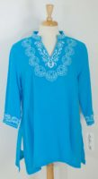 LuLu-B  Embroidered Long Sleeve Tunic (3 Colors)
