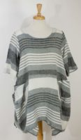 Luukaa - Short Sleeved - Striped Tunic (2 Colors)