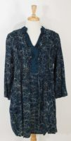 Anna Ocean/Maggie B - Balfour Tunic- Navy/Taupe Leaf