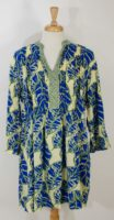 Anna Ocean/Maggie B - Balfour Tunic - Light Yellow w/ Leaves