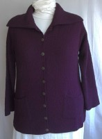 Margaret Winters Cardigan Sweater - Elderberry