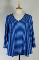 Nyah V-neck Stripe Tunic (2 Colors)