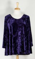 La Blend Nyah - Scoop Neck Velvet Tunic (3 Colors)