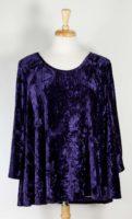 La Blend Nyah - Scoop Neck Velvet Tunic (3 Colors)
