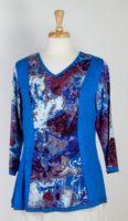 Parsley & Sage, Blue V-neck Top